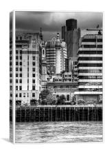 Standing Tall Across the Thames, Canvas Print