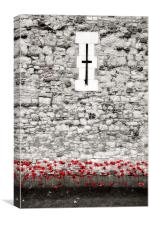 Poppies at the Tower, Canvas Print