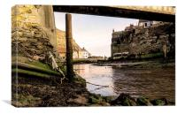 Water Under The Bridge Staithes, Canvas Print