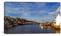 Whitby From The Swing Bridge, Canvas Print