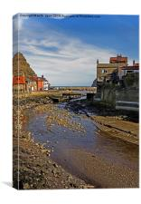 To The Harbour Mouth Staithes, Canvas Print