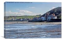 Sandsend From The Beach, Canvas Print
