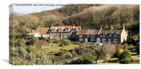 Cottages At Sandsend North Yorkshire, Canvas Print