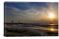 Tees Bay Sunset, Canvas Print