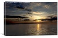 Sandsend Sunset, Canvas Print