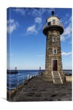 East Pier Lighthouse Whitby, Canvas Print