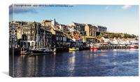 Harbour View Whitby, Canvas Print