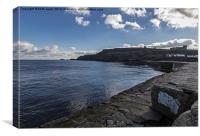 East Cliff Whitby, Canvas Print