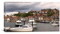 Whitby Harbour , Canvas Print
