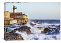 South Gare Lighthouse, Canvas Print