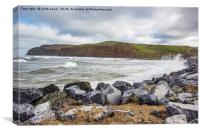 Skinningrove sea defences, Canvas Print