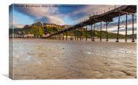 Saltburn in the evening light, Canvas Print
