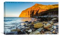 As the sun sets Skinningrove., Canvas Print
