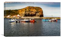 Staithes Harbour , Canvas Print