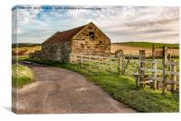 Old Barn Staithes., Canvas Print