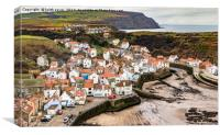 The Village of Staithes, Canvas Print