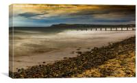 Redcar Beach, Canvas Print
