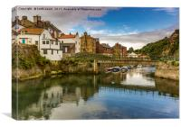 Staithes Upper Harbour, Canvas Print