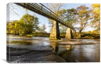 Bridge over the Esk, Canvas Print