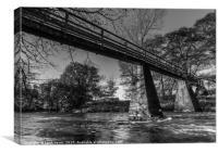 Bridge over the river Esk, Canvas Print