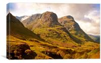 Three Sisters. Glencoe. Scotland, Canvas Print