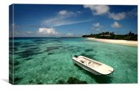 Crystal Clarity. Maldives, Canvas Print