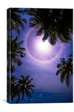 Sun Halo. Maldives, Canvas Print