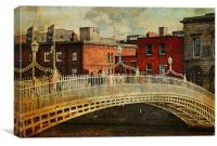 Irish Venice. Streets of Dublin. Painting Collecti, Canvas Print