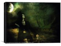 Love Moonlight Song of Vampiress, Canvas Print