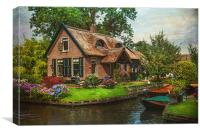 Fairytale House. Giethoorn. Venice of the North, Canvas Print