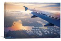 Morning Flight over Netherlands, Canvas Print