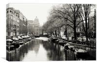 Amsterdam Canal , Canvas Print