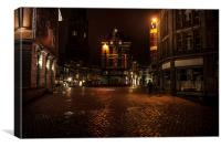 Lights of Night Utrecht. Netherlands , Canvas Print