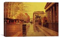 Royal Exchange Square. Glasgow , Canvas Print
