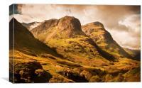 Three Sisters. Glencoe. Scotland, Canvas Print