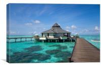 Overwater Restaurant at Maldivian Resort, Canvas Print