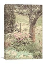 Spring Garden Pastel                              , Canvas Print