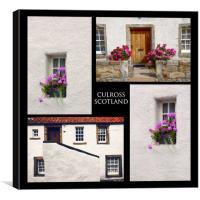Culross Towm Collage. Scotland, Canvas Print