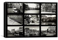 Amsterdam by Jenny Rainbow, Canvas Print