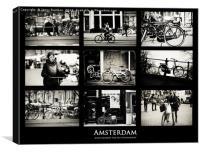 Amsterdam Bikes by Jenny Rainbow, Canvas Print