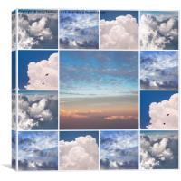 Dreamy Clouds Collage, Canvas Print