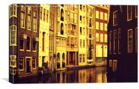 Golden Hour in Amsterdam                          , Canvas Print
