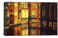 Golden Amsterdam Reflections                      , Canvas Print
