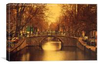 Retro Amsterdam                                   , Canvas Print