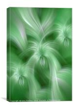Mint Green colored abstract. Concept Healing Nature, Canvas Print