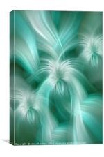 Gentle Green Blue abstract. Concept Turquoise Flows, Canvas Print