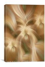 Golden creamy abstract. Concept Golden Flows. Spiritual Money, Canvas Print