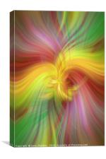 Rainbow colored abstract. Concept Alliance of sun and earth, Canvas Print