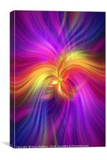 Purple violet yellow colored abstract. Concept Bird of Paradise, Canvas Print