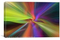 Rainbow multicilored abstract. Concept The Threads of Destiny, Canvas Print